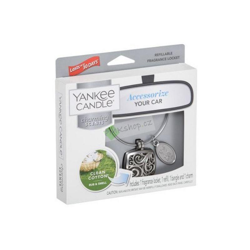 Yankee Candle vůně do auta Charming Scents základní set Square Clean Cotton