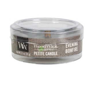Woodwick Petite drobná svíčka 31 g Evening Bonfire